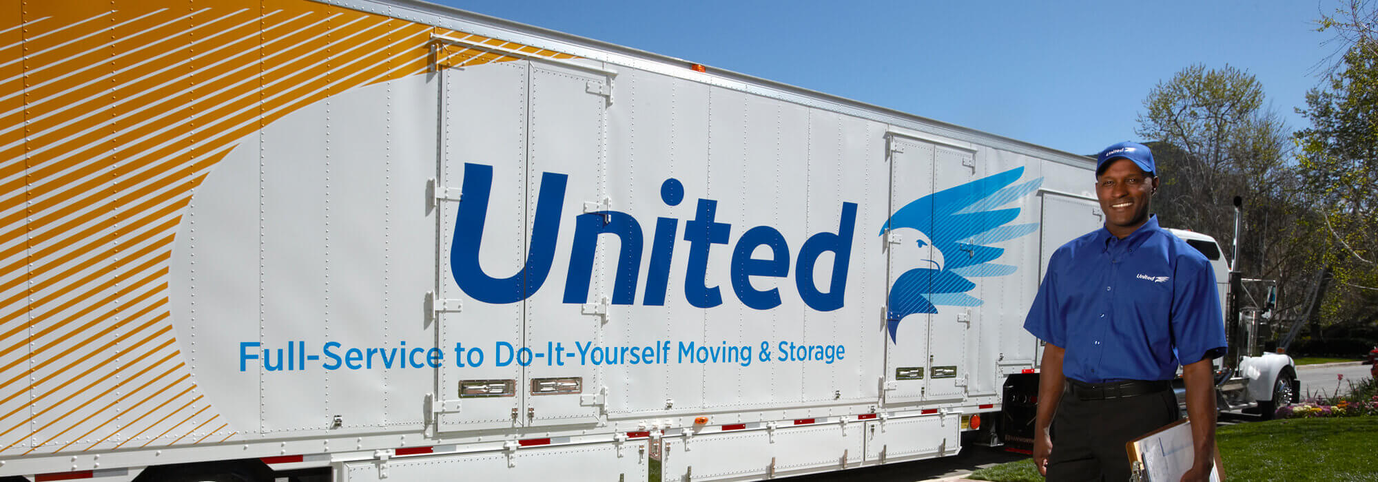 United Van Lines Moving Trailer